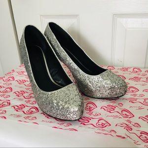 Torrid Silver Glitter Heels